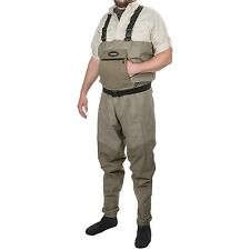 Frogg Toggs Anura Breathable Fly Fishing Chest Waders Belt Stocking Foot Large