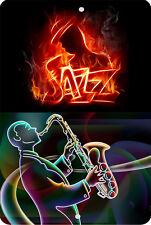 JAZZ FIRE Sign 8 x 12 MUSIC Emblem Version #2
