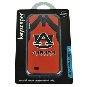 NCAA Auburn Tigers Samsung Galaxy S4 Coque Rigide Étui Orange Bleu Logo Jersey