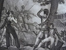 Gravure EMPIRE Lt D'ARNAUDAT BATAILLE LAON 1814 RUSSES CAMPAGNE FRANCE NAPOLEON
