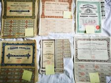 LOT 170 ACTIONS TITRES FRANCE ETRANGER ANCIENS CHILIE CAMEROUN  RUSSE MEXICO