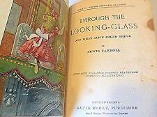 THROUGH THE LOOKING GLASS  Lewis Carroll  Illus. HB c.1900   ALICE IN WONDERLAND