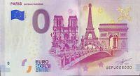 BILLET 0  EURO  PARIS BATEAUX PARISIENS FRANCE   2019  NUMERO 8000