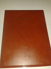 A4 MENU COVER/FOLDER IN LIGHT BROWN LEATHER LOOK PVC