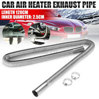 120cm Exhaust Pipe Car Parking Air Heater Tank Diesel Vent Hose Stainless