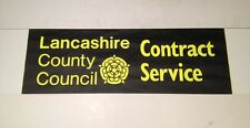 """Blackpool Bus Blind Oct 99(28"""" Wide)- Lancashire County Council Contract Service"""