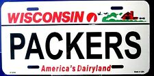 Packers license plate NFL Wisconsin New aluminum auto tag Made in USA  LP-2064