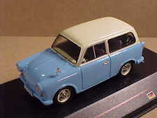 iST Models 1/43 Diecast '59 Trabant P50 Kombi 2-Door, Blue w/White Roof #IST 046