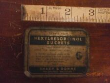 Rare Vintage Hexylresorcinol Sucrets Vintage tin Decoration Collectable