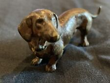 Antique Austrian Vienna Cold Painted Bronze Dachshund Dog Puppy