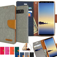 For Samsung Galaxy S10+ 5G S9 Slim shockproof Flip Card slot wallet leather Case