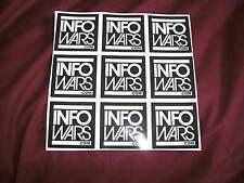 INFOWARS Vinyl Printed Stickers x 9