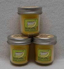 Bath & Body Works Banana Nutmeg Bread Pudding Mini Mason Jar Candles Set of 3
