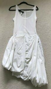 Paul Smith Ladies  White Dress  42/52 UK 10 70% Cotton   30% Polyamide