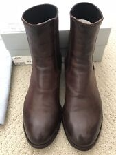 OFFICINE CREATIVE ITALIA SIGARO LEATHER ANKLE BUCKLE BOOTS: Sz 36.5, Pre-owned