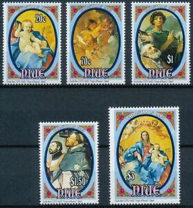 NIUE, SC 662-66, 1993 Christmas issue, full set of 5, MNH CV $13+