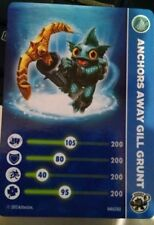 Anchors Away Gill Grunt Skylanders Swap Force Stat Card Only!
