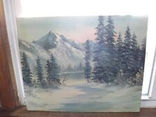 Beautiful Bob Ross Style Oil Painting Painted by Instructor Josie Fitzgerald