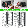 8 Tier Kitchen Storage Rack Pan Saucepan Pot Organizer Shelves Holder Stand UK