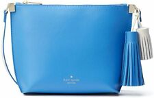 NEW Kate Spade Foster Court Pepper Alice Blue Leather Tassels Crossbody Bag $279