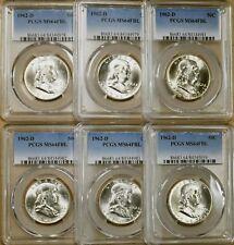 1962-D PCGS MS64 FBL Franklin Half Dollar - 100% White