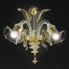 Applique in vetri di Murano art 1020 2 luci cristallo oro