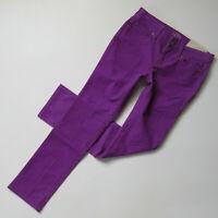 NWT Ann Taylor LOFT Modern Straight Cord in Purple Stretch Corduroy Pants 25P 0P