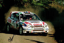 Didier AURIOL WRC French Rally DRIVER SIGNED AUTOGRAPH 12x8 Photo AFTAL COA
