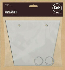 be. TRAPIZIUM RING BLANK BOOK scrapbooking mixed media READY TO DECORATE!