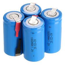 4 PCS Sub C SC 1.2V 1800mAh Ni-Cd NiCd Batterie Rechargeable Piles Bleu Couleur
