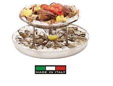 Paderno : Plateau-royale: aufkantung doppel per früchte am meer -Stahl inox