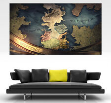 Game of Thrones Westeros GIANT Wall Art POSTER PRINT ART in ONE PIECE
