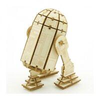 °STAR WARS R2D2 3D HOLZ-MODELL° Neu 6,5x6,5x10 cm 81 Teilen Offiziell lizenziert