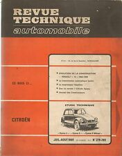 REVUE TECHNIQUE AUTOMOBILE 279 RTA 1969 CITROEN DYANE 4 & 6 CITROEN MEHARI R10
