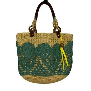Fossil Whicker Woven Shoulder Bag Purse