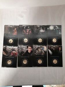 Harry Potter Memorable Moments Gold Coin Card joblot x 8 excellent condition