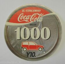 VECCHIO ADESIVO ORIGINALE / Old Original Sticker COCA COLA CONCORSO Y10 (cm 9)