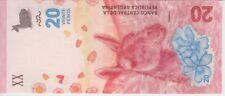ARGENTINA BANKNOTE PNEW, 20 PESOS, CU