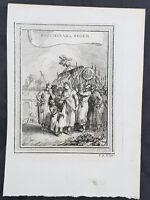 1755 Prevost & Schley Antique Print of Mughal Princess - Roshanara Begum - India