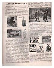 1928 DOCUMENT (ref Lli 4475) PUB : MONTRE LIP ATELIER USINE  1page