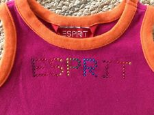ESPRIT Baby Size 18 Months Pink Cotton Beaded Tank Top