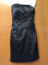 Signature by Sangria Women's Size 4 Black Dress Strapless Sheath Cocktail Party