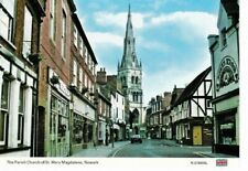 NEWARK - HIGH STREET AND PARISH CHURCH COLOUR  POSTCARD