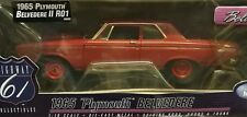 Highway 61 #50595 1965 Plymouth Belvedere II R01 coupe red 1:18