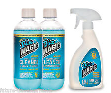 BLUE MAGIC 2 x 500ml Cleaning Solution + Mixer Bottle with Spray Nozzle NEW