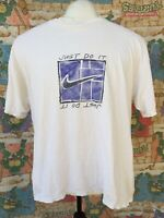 """Vtg Nike """"Just Do It"""" Tee Swoosh T-Shirt 90s Tag USA Made Abstract Artsy"""