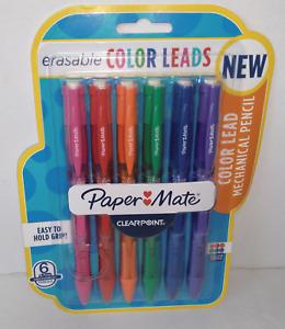 6 Pk Paper Mate Clearpoint Erasable Color Lead Mechanical Pencils 0.7mm
