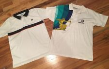 Sergio Tacchini Pete Sampras And Vollaix Retro Vintage Tennis Polo Shirts