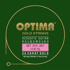 Optima 1747 EL 1 Satz Akustik Guitar Strings 24 K Gold Plated
