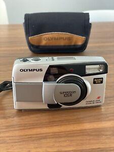 Olympus SuperZoom 105R 35mm Film Point & Shoot Quartz Date Camera TESTED